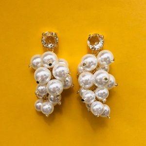 Anthro Faux Pearl Grape Earrings